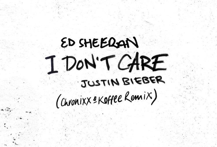 Ed Sheeran ft. Justin Bieber, Chronixx & Koffee- 'I Don'tCare'